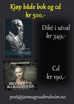 Bok og cd-pakke med Bruheim-dikt