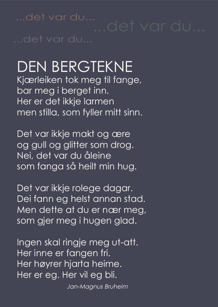 "Diktet ""Den bergtekne"" av Jan-Magnus Bruheim"